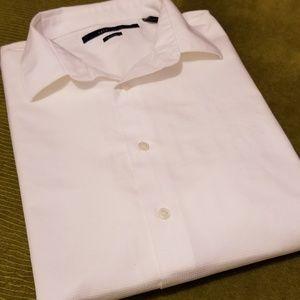 PERRY ELLIS Mens Short Sleeve Dress Shirt-M